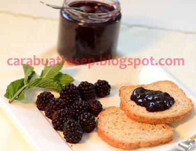 Foto Resep Selai Blackberries Untuk Olesan Roti Tawar Sederhana Spesial Rumahan Homemade Buatan Sendiri Asli Enak