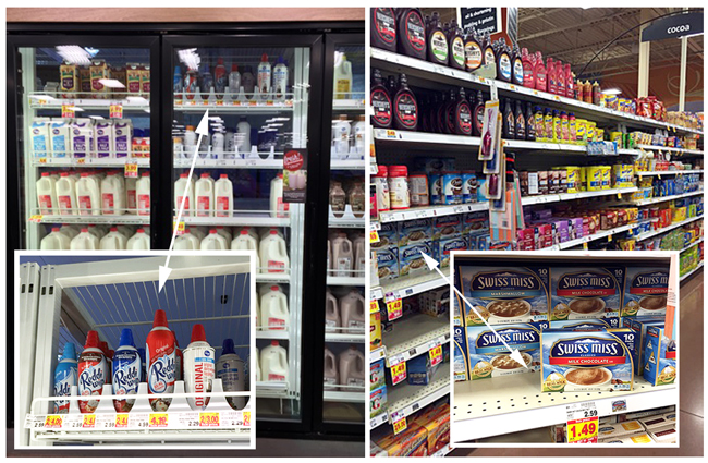 in store photo, reddi wip, swiss miss, pumpkin dip recipe