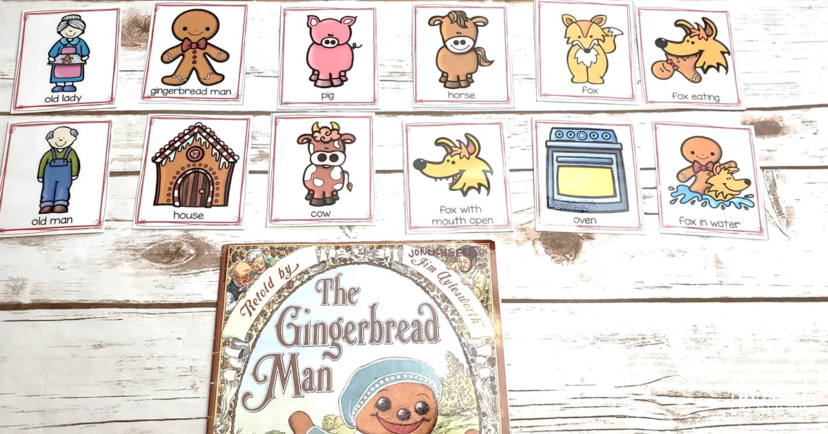picture relating to Story Sequencing Cards Printable named Retelling The Gingerbread Gentleman with Sequencing Playing cards Sara J