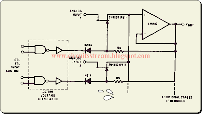Buffered Analog Switch Circuit Diagram