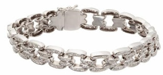 Kavador's Antigua pave diamond 18k white gold open link bracelet