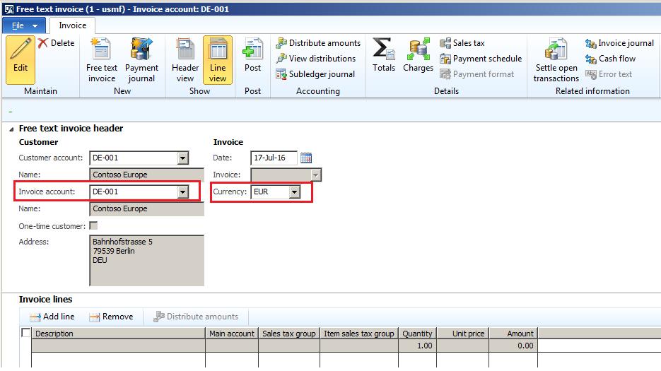 free text invoice in microsoft dynamics ax 2012 r3 microsoft