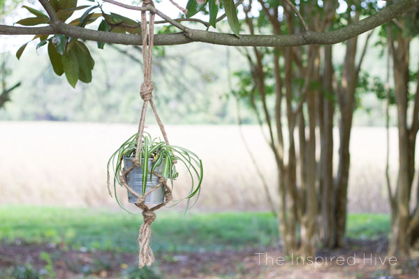 photograph about Free Printable Macrame Plant Hanger Patterns named Do it yourself Jute Macrame Plant Hanger The Motivated Hive