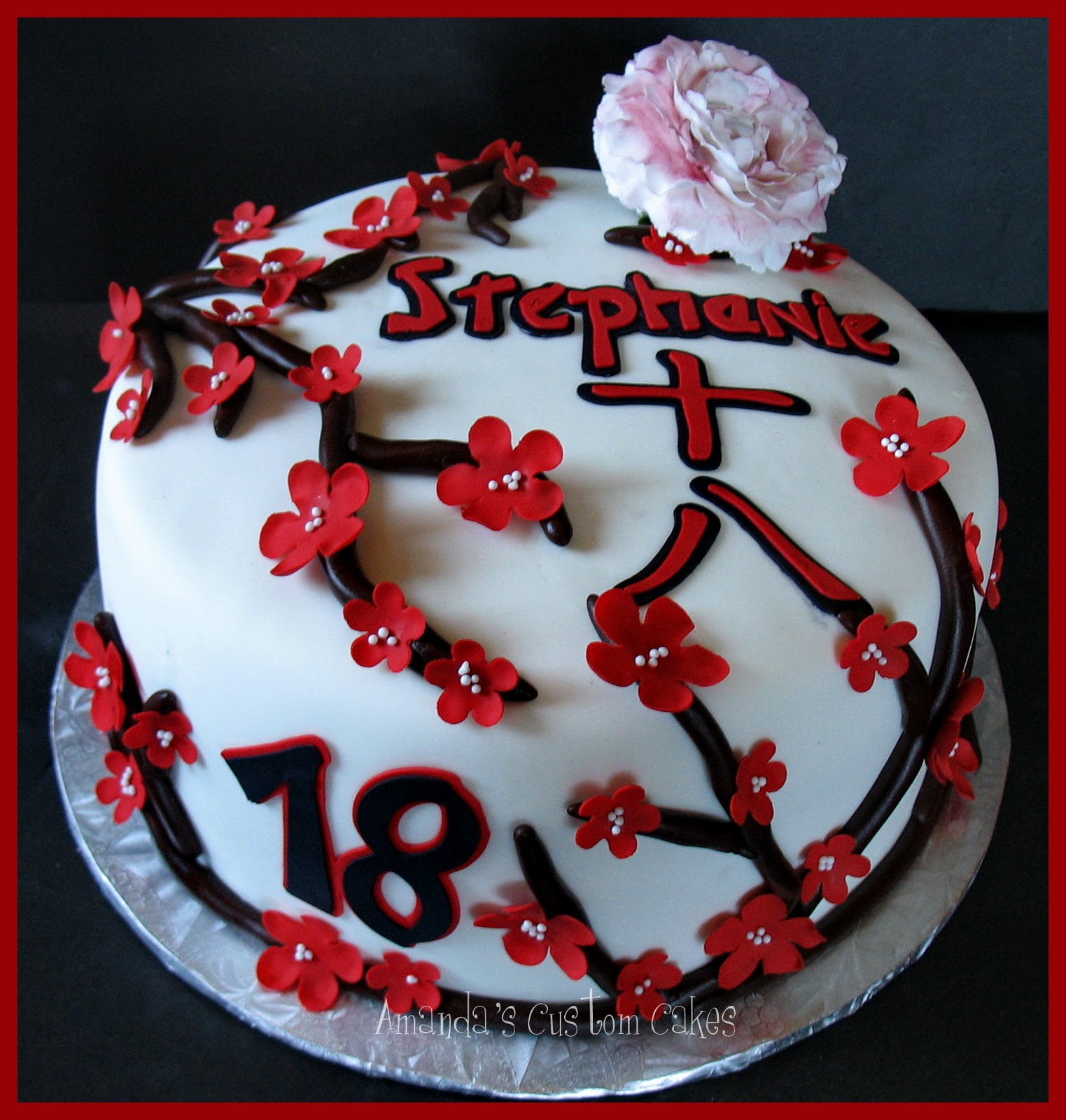 Birthday Cake: Amanda's Custom Cakes: Japanese Themed Birthday Cake