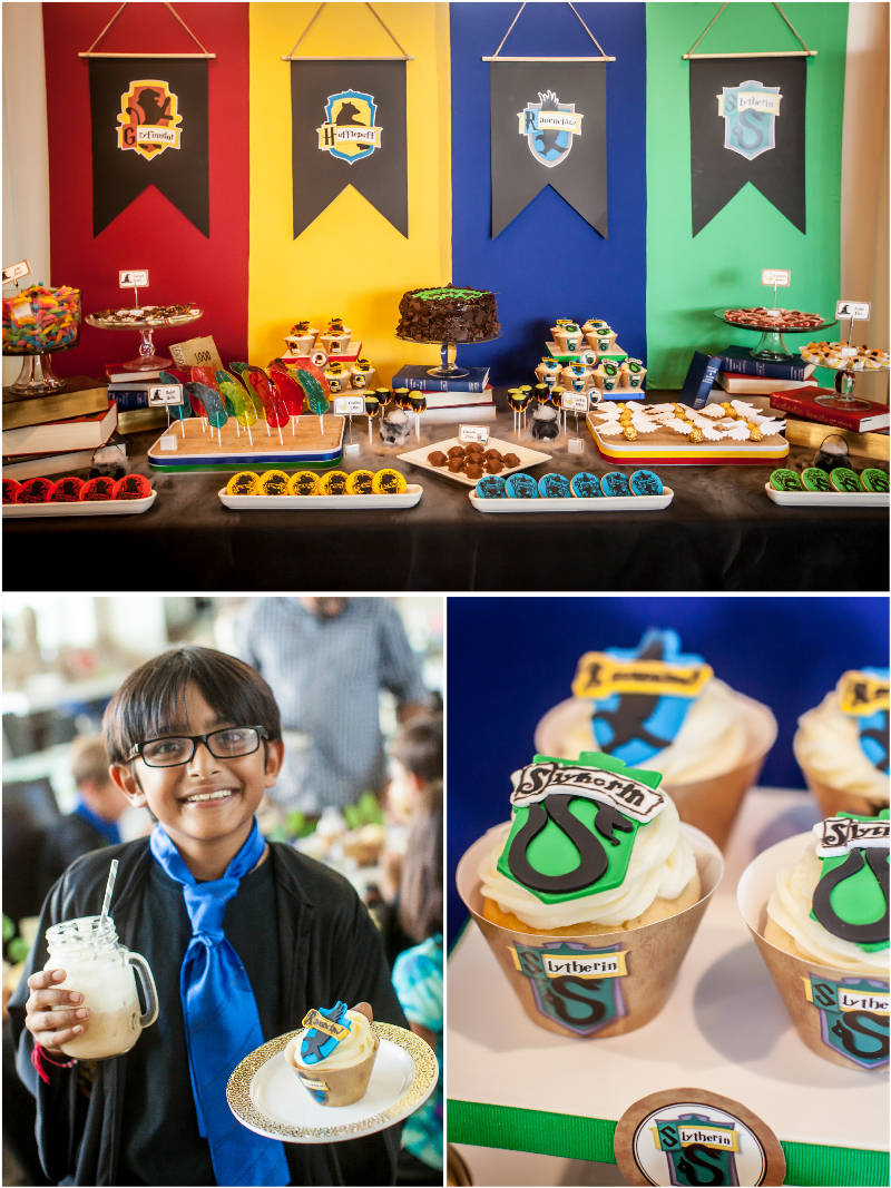 Harry Potter Inspired 9th Birthday Party with ideas on DIY decorations, printables, party food, games and favors - via BirdsParty.com