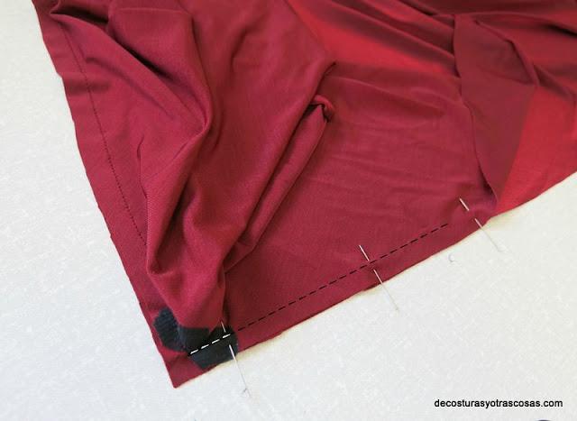 costura en ángulo