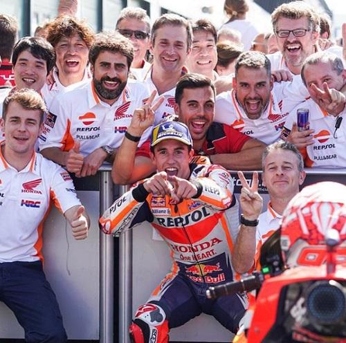 Marc Marquez hadapi MotoGP Aragon