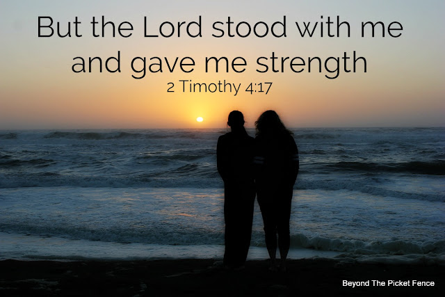 God is standing with us and supporting us always