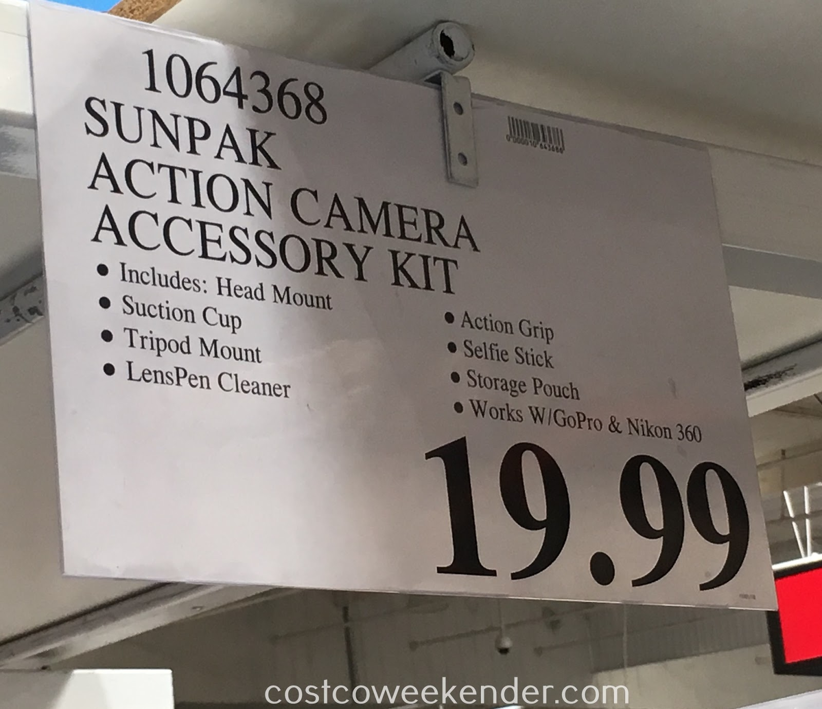 Deal for the Sunpak Action Camera Accessory Kit at Costco
