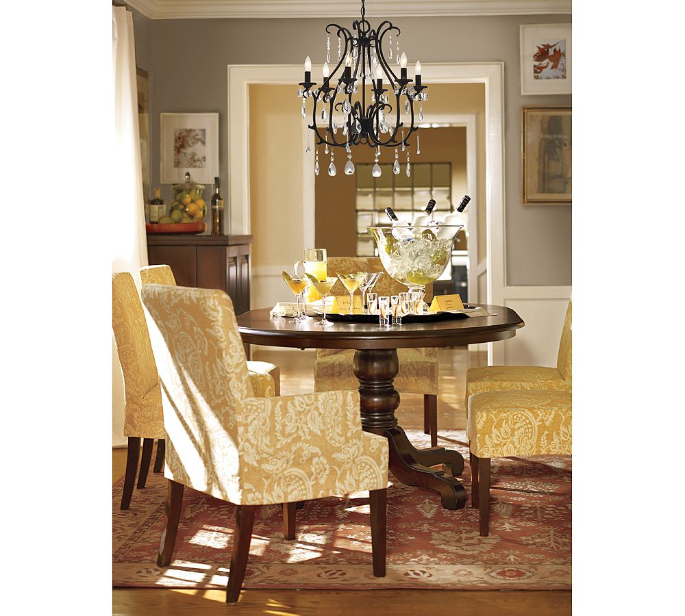 Pottery Barn Dining Room: Drapery Panels For A Gray Dining Room
