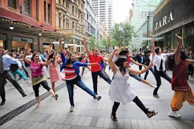 birthday surprise flashmob