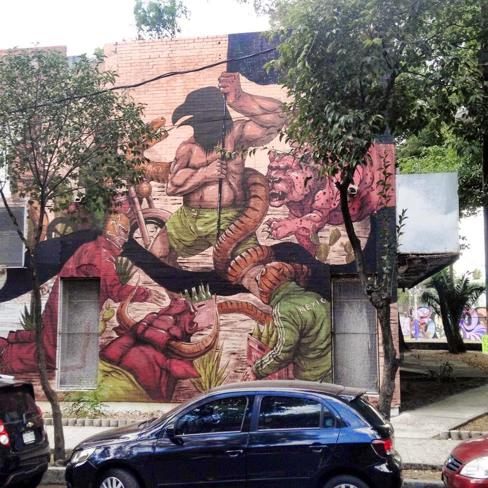 JAZ is currently in central America where he was invited by Fifty24MX to participate in the ManifestoMX Street Art Festival.