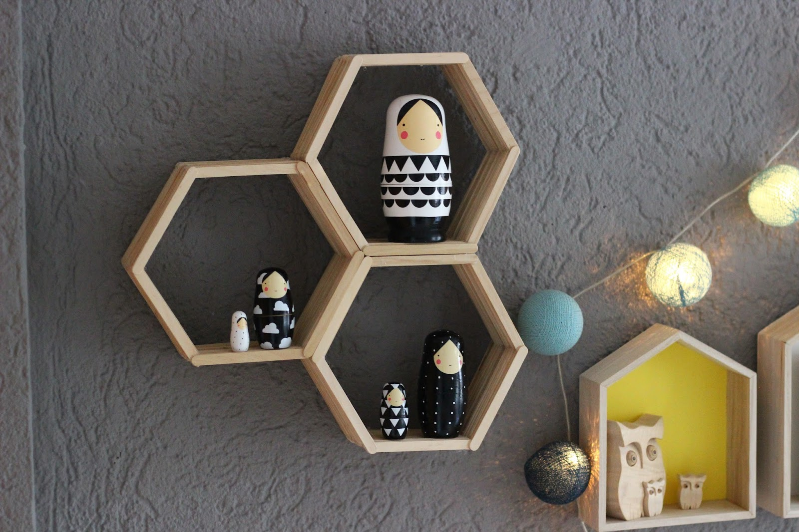 buecherregal design ideen, diy-idee: design-waben-regal aus eisstäbchen | apfelbäckchen, Design ideen