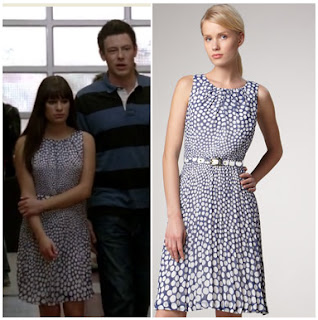 Glee: Season 3 Episode 15 Rachel's Blue Dotty Dress | Shop