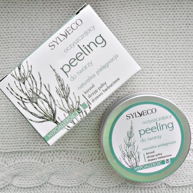 SYLVECO | oczyszczający peeling do twarzy | korund, skrzyp polny, drzewo herbaciane