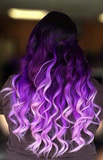 Purple hair colour style