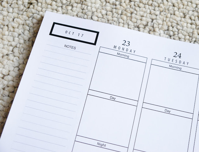 PEN TO PAPER PLANNERS – 2017 MONOCHROME PLANNER
