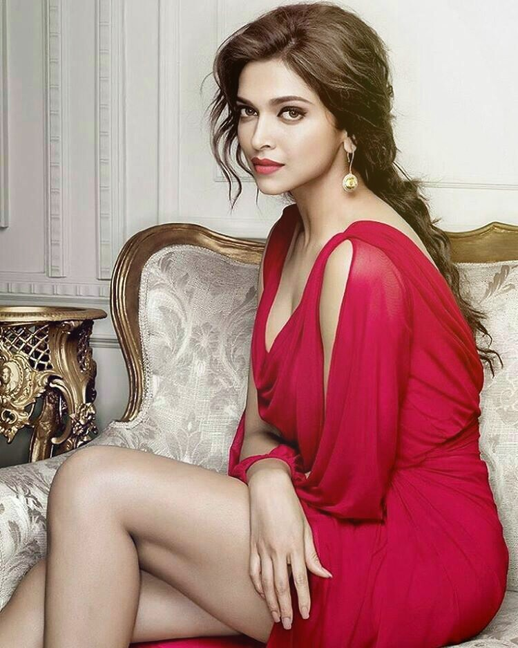Deepika Padukone red dressed