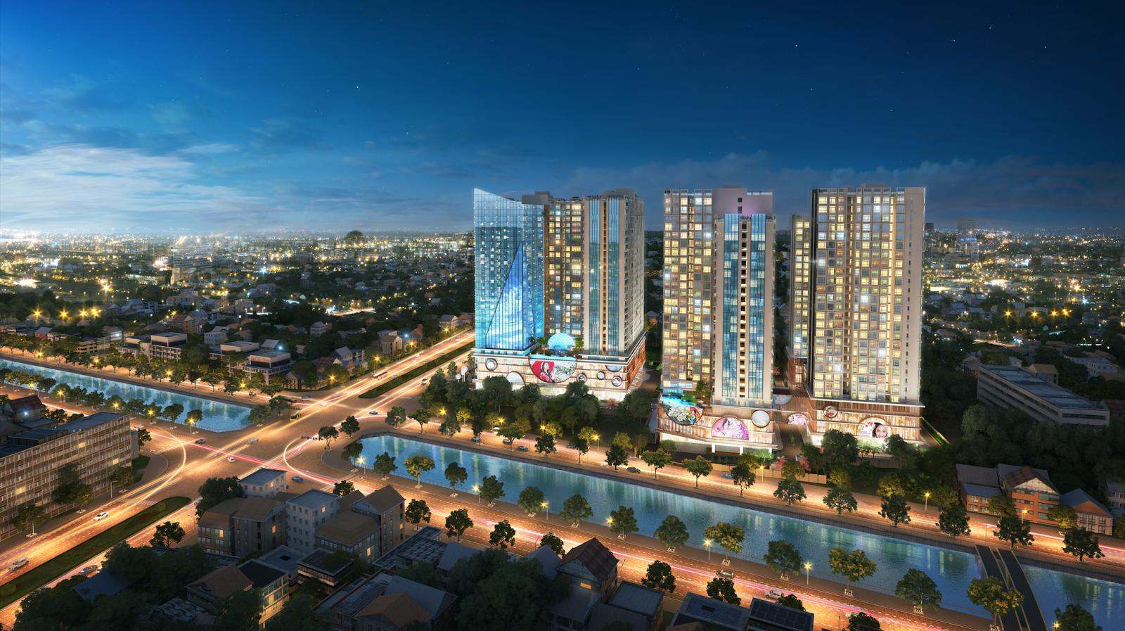 Phối cảnh của dự án Hinode City Minh Khai