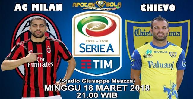 Prediksi AC Milan vs Chievo Verona 18 Maret 2018