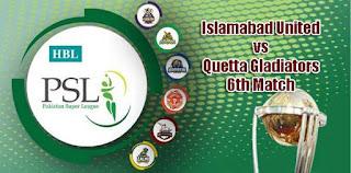 PSL 2019 Quetta vs Islamabad Today Match Prediction Dream11 Squad
