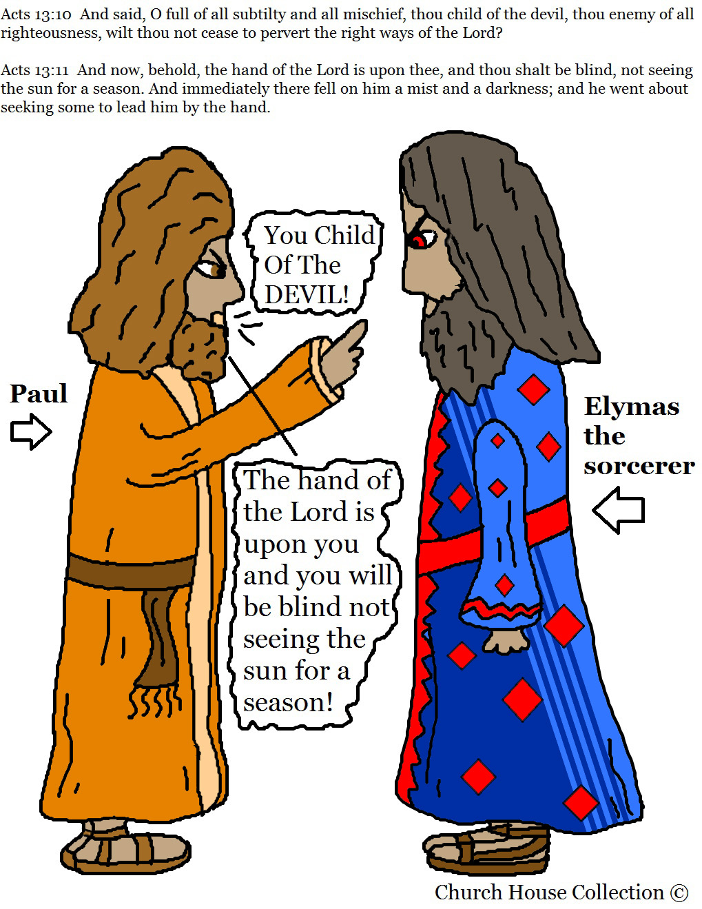 Church House Collection Blog Paul And Elymas The Sorcerer Coloring Page Rh Churchhousecollection Blogspot Com Silas In Prison Bar Jesus