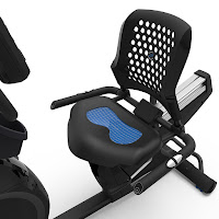 Nautilus MY18 R618 gel-cushioned seat, image, with airflow backrest