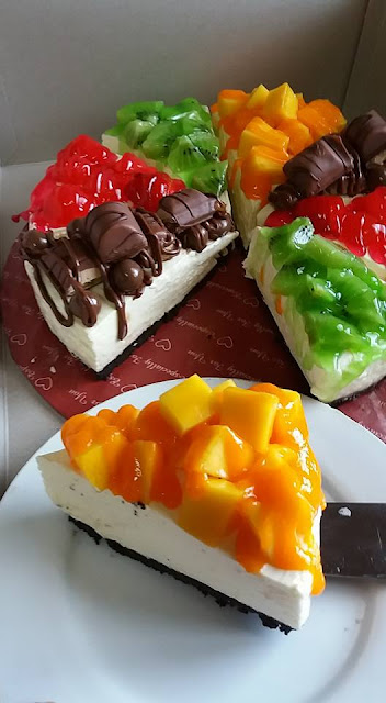 Recepi Pizza Fruit Cheesecake
