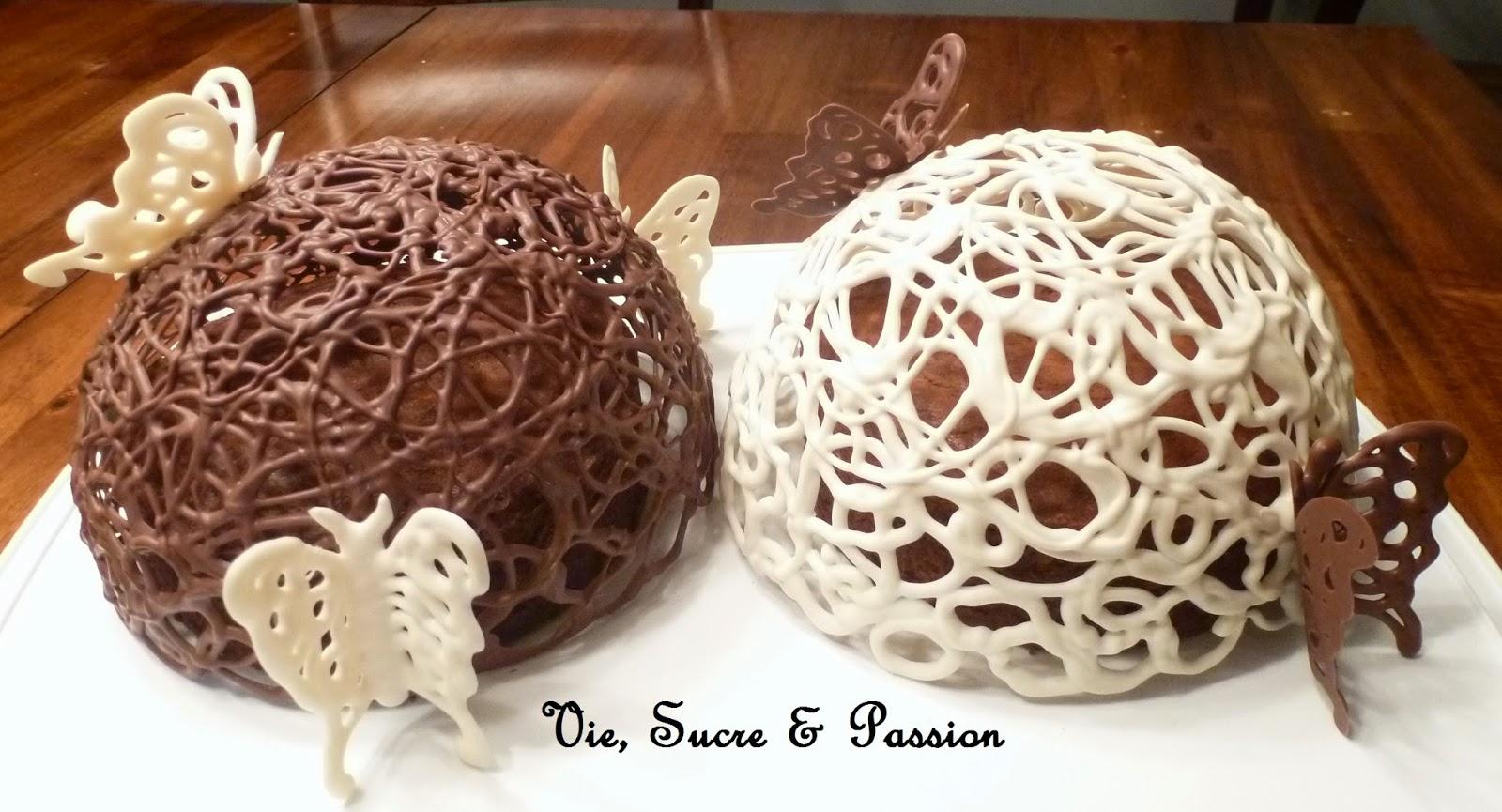 Comment faire un dôme de dentelle en chocolat