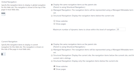 Inherit global and current navigation settings on the Sharepoint publishing sites from parent web via client object model