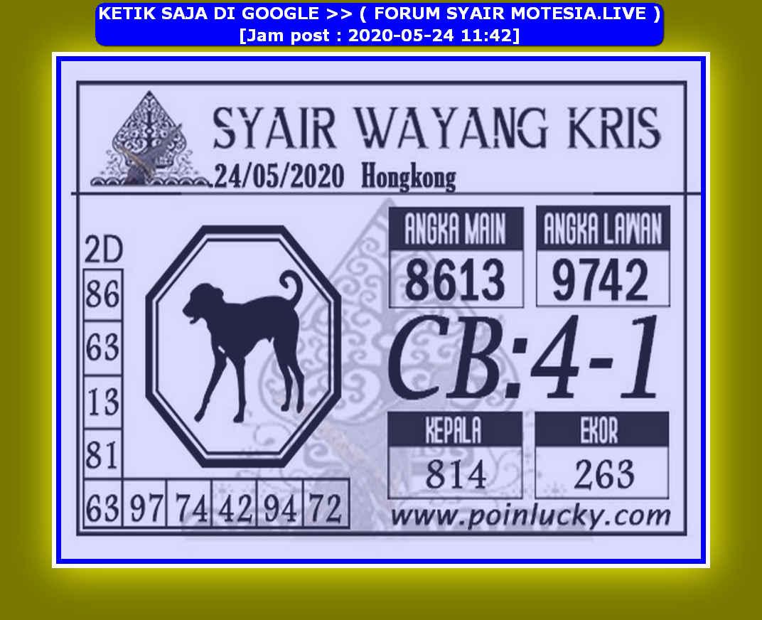 Kode syair Hongkong Minggu 24 Mei 2020 163