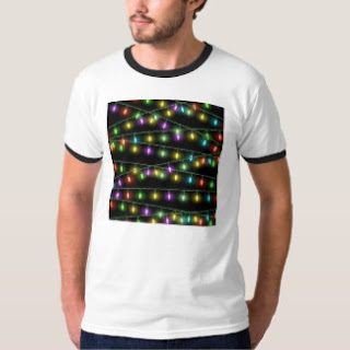 printed christmas light tshirt