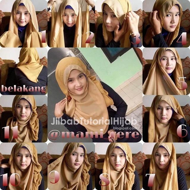 tutorial cara menggunakan hijab pashmina untuk sehari Tutorial Hijab Pashmina Untuk Sehari-hari