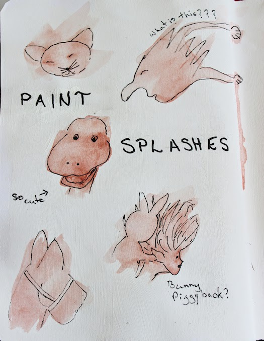 Paint Splashes Art Journal Page Left