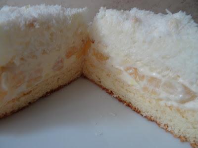 Ciasto z wkładką kokosową