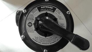 Pindahkan handle control ke rinse - pencucian filter kolamr enang
