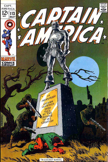 Captain America v1 #113 marvel comic book cover art by Jim Steranko