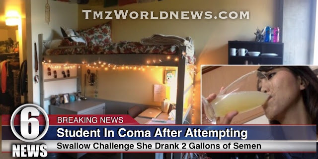 College Student In A Coma After Attempting To Drink 2 Gallons of Semen