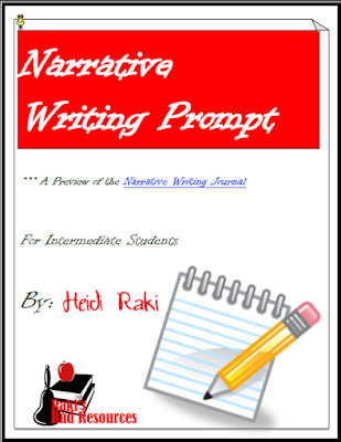 Free narrative writing prompt to teach the writing process - from Raki's Rad Resources.