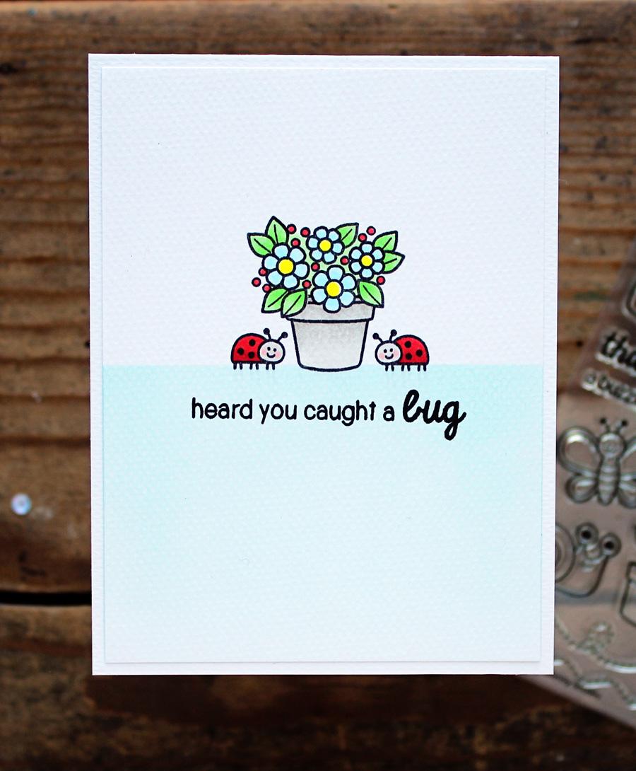 sunny studio backyard bugs get well card with vanessa
