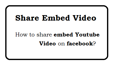 How to share Embed youtube video on facebook From my website