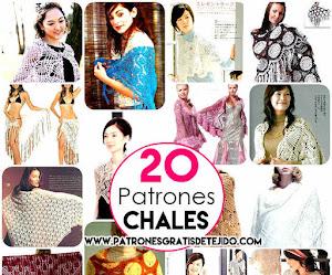 20 Patrones de Chales Crochet para Imprimir / Colección