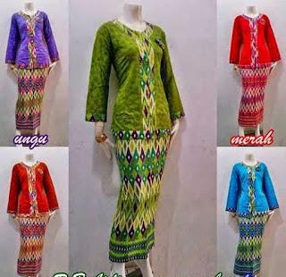 Model Baju Batik Setelan trend masa kini