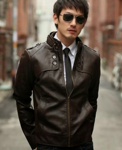 jaket kulit asli korean style