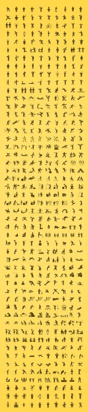 iconos de pictogramas de personas gratis