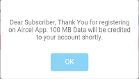 now download aircel app and get 100MB of 3G Data Absolutely For Free