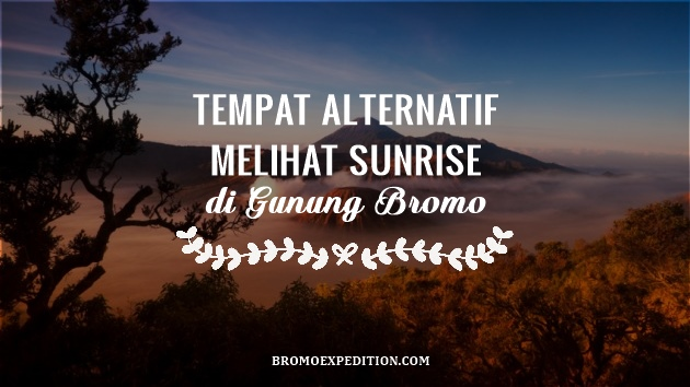 Tempat Alternatif Melihat Sunrise di Bromo