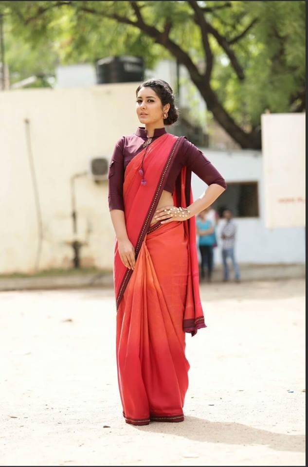 Rashi Khanna Hot Photoshoot In Red Saree