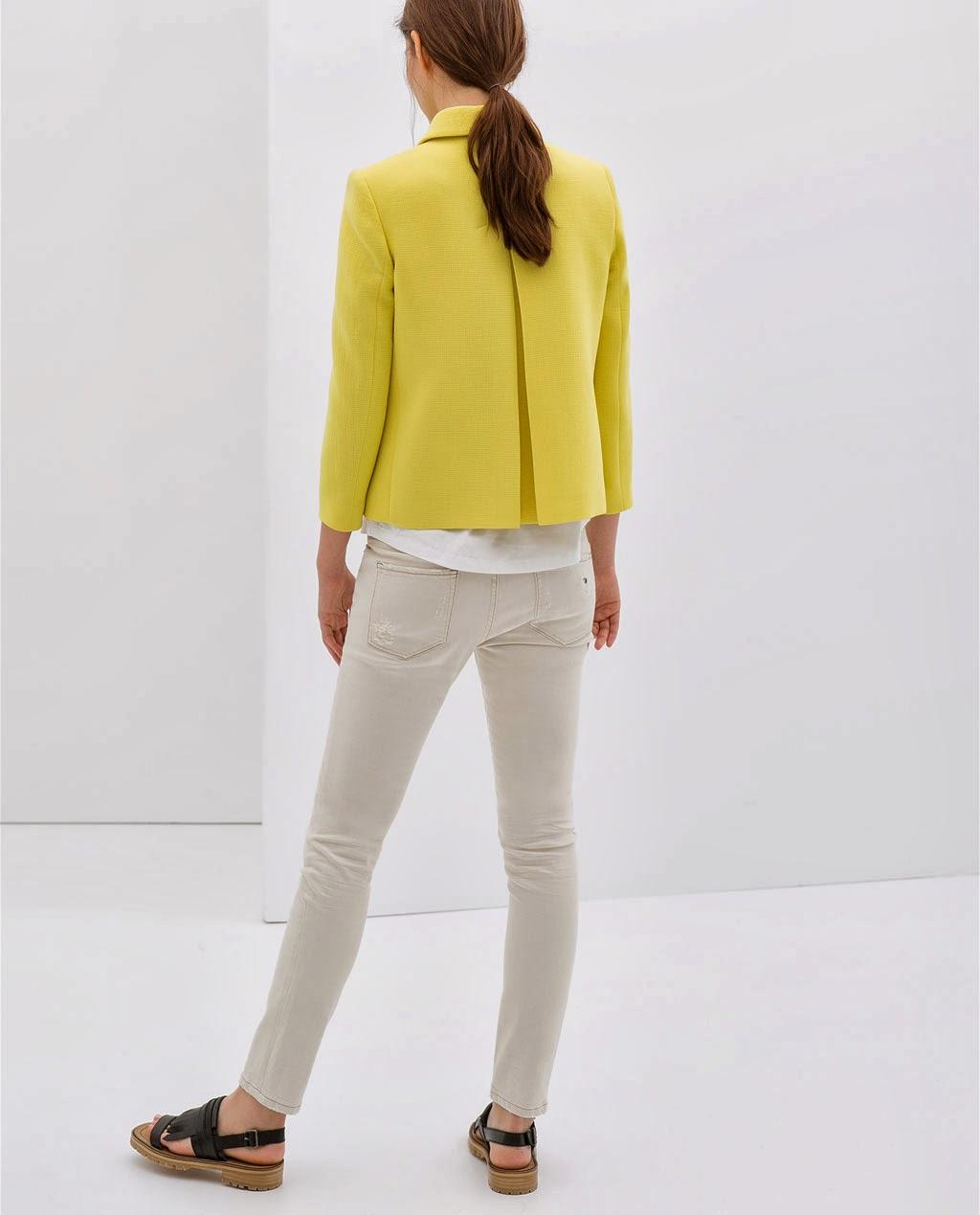 lemon drop Zara jacket cute back