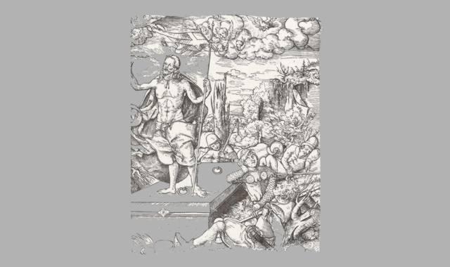 Bild des Mittelalters.Auferstehung